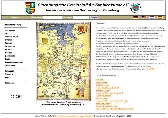 Auswanderer aus dem Großherzogtum Oldenburg