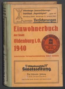 Adressbuch Oldenburg, 1940